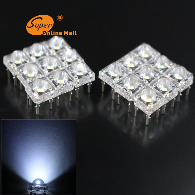 100pcs/lot 5mm white Piranha Super Flux Dome water Clear LED Car Light 4 pin Wide Angle Super Bright Light Lamp(China (Mainland))