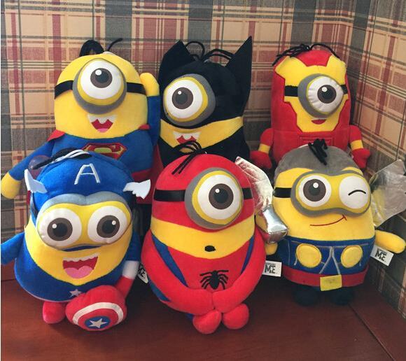 20cm Minions Cosplay The Avengers Super Hero Spiderman & Superman & Batman & Captain America & Ironman & Thor Action Figure Toys()