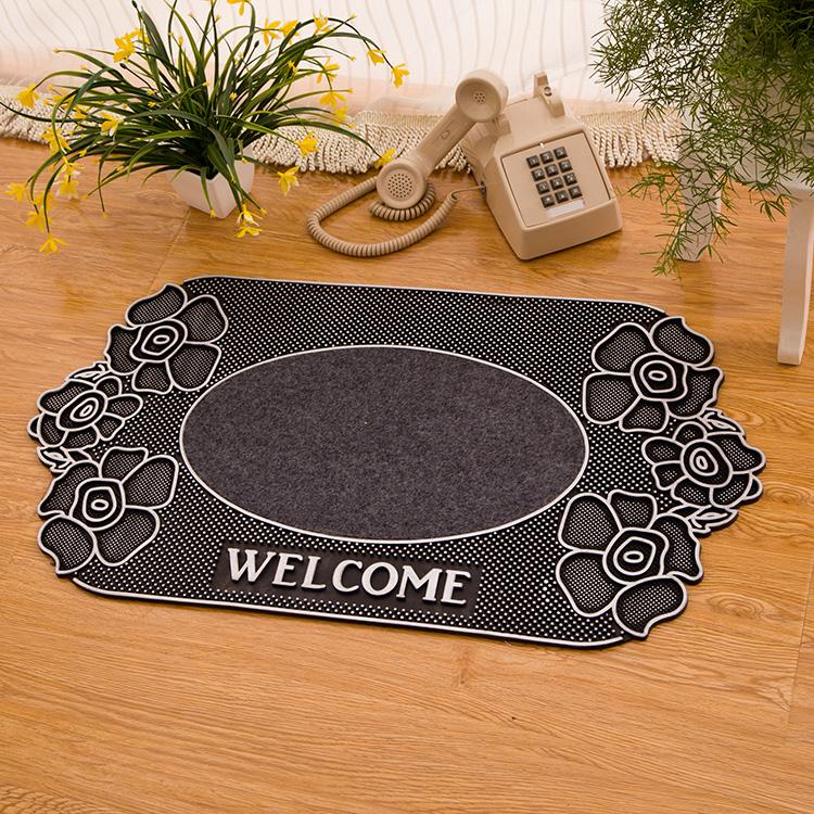 46*78cm Carpet entrance anti-theft door mats pvc velvet slip-resistant mats toilet bathroom mat free shipping(China (Mainland))