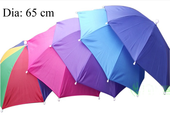 65cm Umbrella Hat,Golf Fishing Camping Headwear Cap,Rain Umbrella Head Hat,umbrella wearing,elastic umbrella hat,free shipping(China (Mainland))