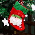 2016 Christmas Stocking16 9CM Nonwovens Paillette Snowman Santa White Bear Design Decoracion Navidad Christmas Tree Ornaments