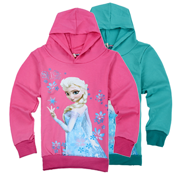 2015 Fashion Elsa Kids Sports Hoodies For Girls 100% Cotton Coats Childrens Sweatshirts Clothing Moleton Infantil 3-8years<br><br>Aliexpress