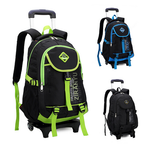 Best children school bags NRK wheeled trolley backpack kids bag wheels mochila infantil shoulder &88048