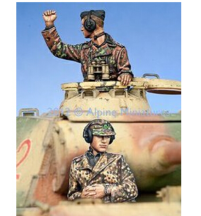 resin kits soldier Resin model 1/35 EM WW2 German Waffen SS Commander Group(China (Mainland))