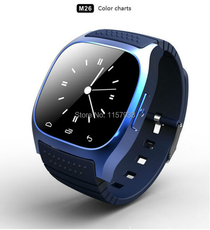Hot fashion sport Bluetooth Smart Watch phone digital smartwatch M26 with Dial SMS Remind Pedometer anti-lost for android xiaomi(China (Mainland))