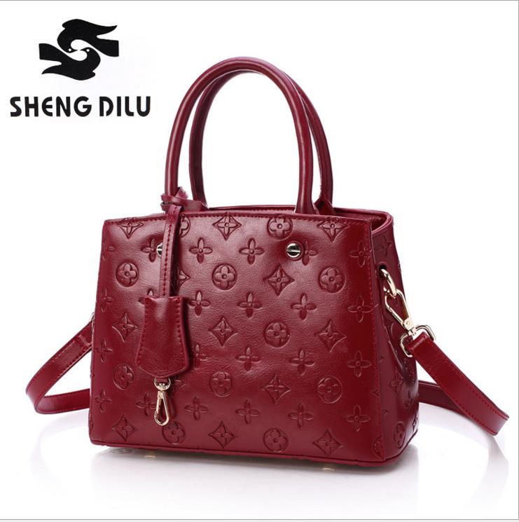 2016 female  leather  bag FIRST LAYER COWHIDE  shoulder bag handbag cross body bag  Bolsos Femininas<br><br>Aliexpress