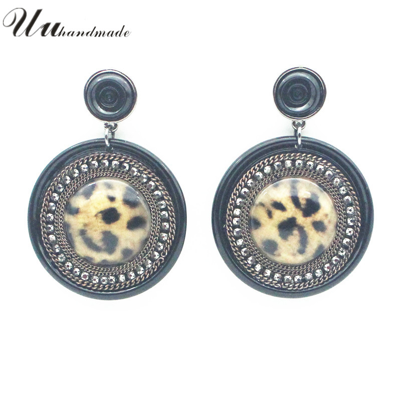 Brincos Women Trendy New Resin Time-limited Sale Sterling Jewelry 2016 Pendientes Mujer Big Round Earrings For Lady Hoop Pendant(China (Mainland))
