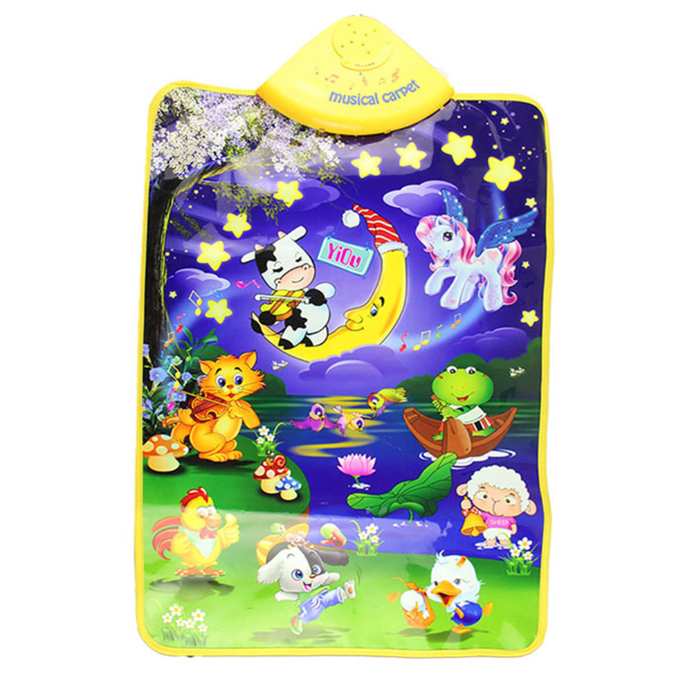 Baby Play Mats Delicate Music Sound Farm Animal Kids Baby Play Playing Mat Carpet Playmat Gym Toy Hot Selling Free shipping(China (Mainland))