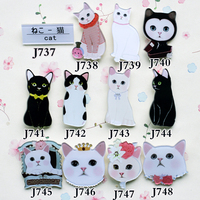 New arrival 2014 Fashion Acrylic HARAJUKU badge Animal cat  brooches hijab pins pin up brooch pins