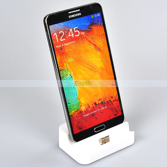 Vertical Desktop Charger Dock Extend Battery Docking Station Charge for Samsung Note 3 N9000 with Audio Support Connect Speaker(China (Mainland))