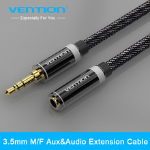 Buy Vention 3.5mm Jack Male Female Audio Stereo Aux Extension Cable 0.5m/1m/1.5m/2m/3m/5m iPhone iPod Car Headphone AUX Cable for $3.49 in AliExpress store