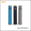 Factory Price JomoTech 2200mAh USB Passthrough Electronic Cigarette Battery Bgo 40w Battery for All 510 Thread