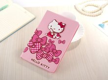 Nice hello Kitty PU Leather Flip Case For Apple iPad Mini Cases Wallet for mini3 Sleep Wake W/Stand Cover For mini2 Tablet Case(China (Mainland))