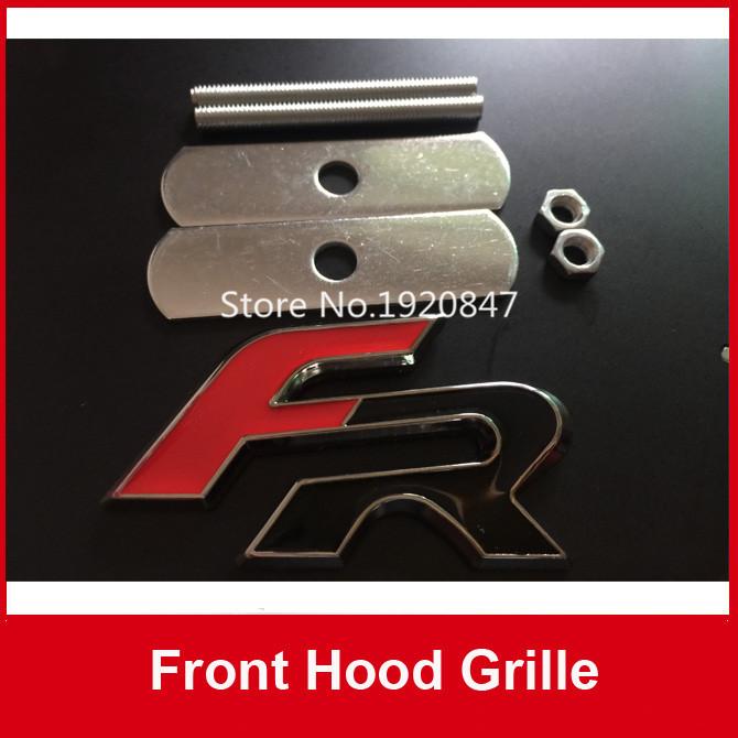 5 sets Car Front Hood Grill Emblem 3D FR Metal Front Grille Badge Emblem Car Accessories(China (Mainland))