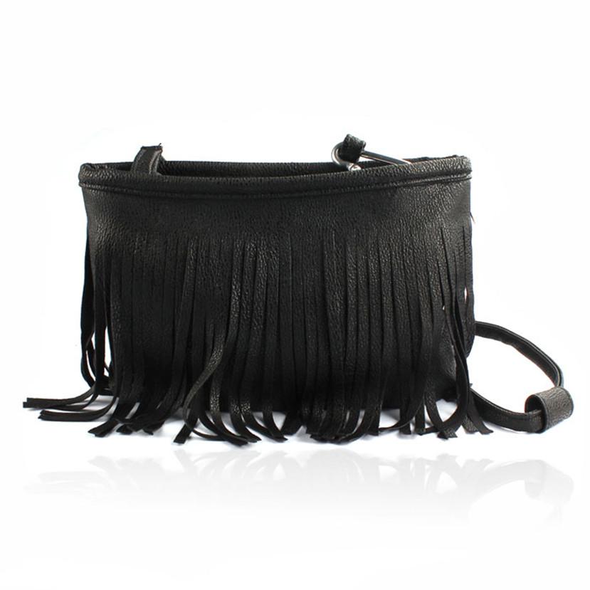 Min  Hot Tassel Shoulder Messenger Clutch Baguette Handbag Women Satchel Mar24<br><br>Aliexpress