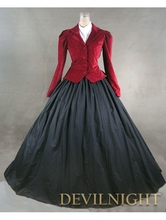 Red Jacket Winter Gothic Victorian Costume Dress