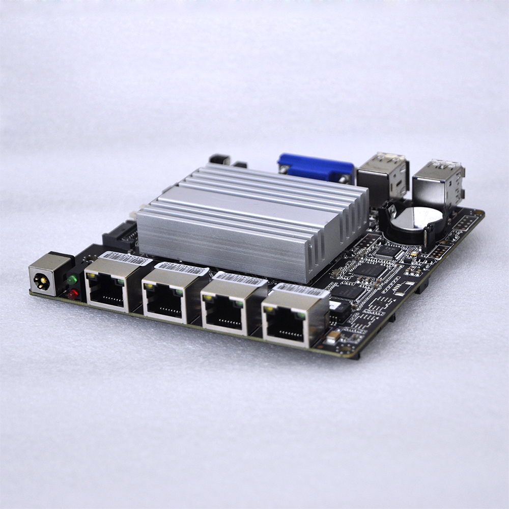 2017 J1900 4 Lan Ports Motherboard, four gigabit ethernet Mainboard, Fanless MINI ITX Mainboard Pfsense Linux(China (Mainland))
