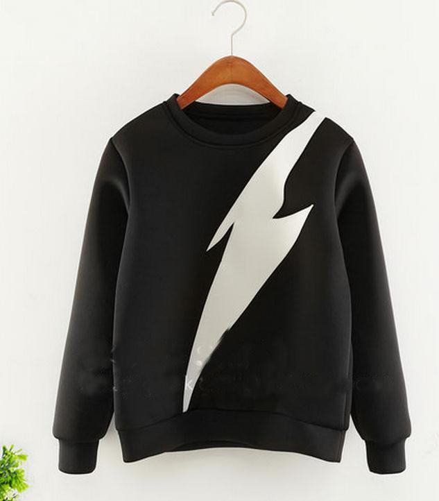 sport suit women printed sweatshirt loose hoodie Long Sleeve solid Loose Hoodie fashion clothing plus size - The only design studio store