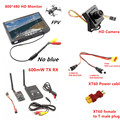 RC FPV Combo System 5 8Ghz 600mw Transmitter Receiver no blue Monitor 800TVL Camera DJI Phantom