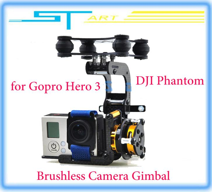 DJI Phantom Gopro 3 Metal Brushless Camera Gimbal w/Motors Controller RTF parts accessories camera mounts FPV Drop shipping hot <br><br>Aliexpress