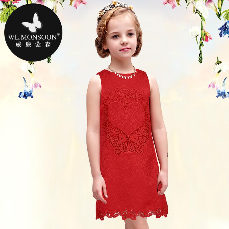 MONSOON high-end brand original girls summer dress fashion custom child Princess Dress(China (Mainland))