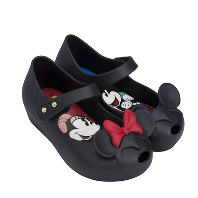 Lovely Mickey & Minnie Bow Mini Melissa Sandals For Girls Brazil Melissa Jelly Shoes Mickey Minnie Children Sandals Soft Comfort(China (Mainland))