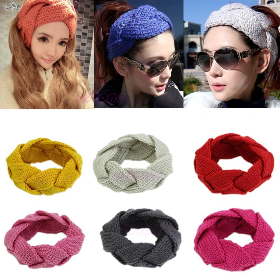 W110--New Sell Womens Crochet Twist Knitted Headwrap Headband Winter Warmer Hair Band(China (Mainland))