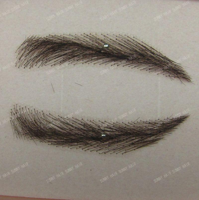 hand made human hair false eyebrow 012 black color<br><br>Aliexpress