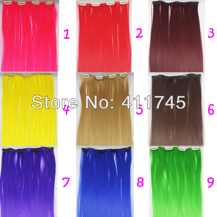 4clips hair extensions Long clip in on synthetic Hair extensions Hairpiece Extension<br><br>Aliexpress