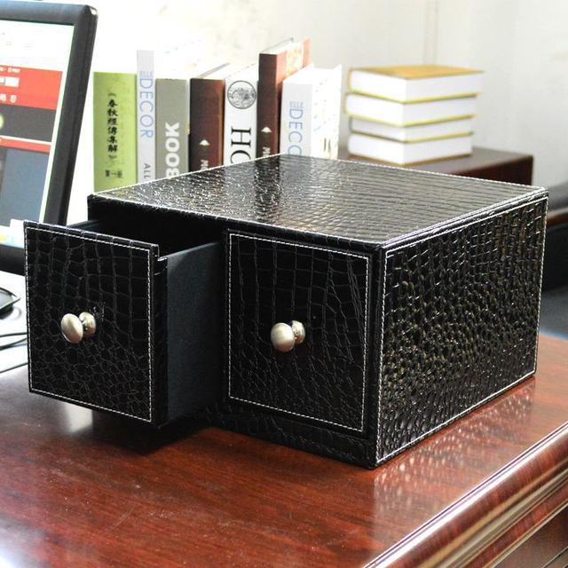 haute couture en cuir cd dvd bureau bo te de rangement finition cr ative armoire tiroir cd dvd. Black Bedroom Furniture Sets. Home Design Ideas