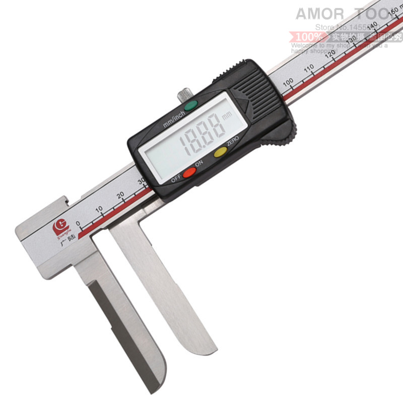 0-150mm /0.01 6 Long claws inside digital caliper micrometer paquimetro vernier calipers stainless steel measuring tool brand <br><br>Aliexpress