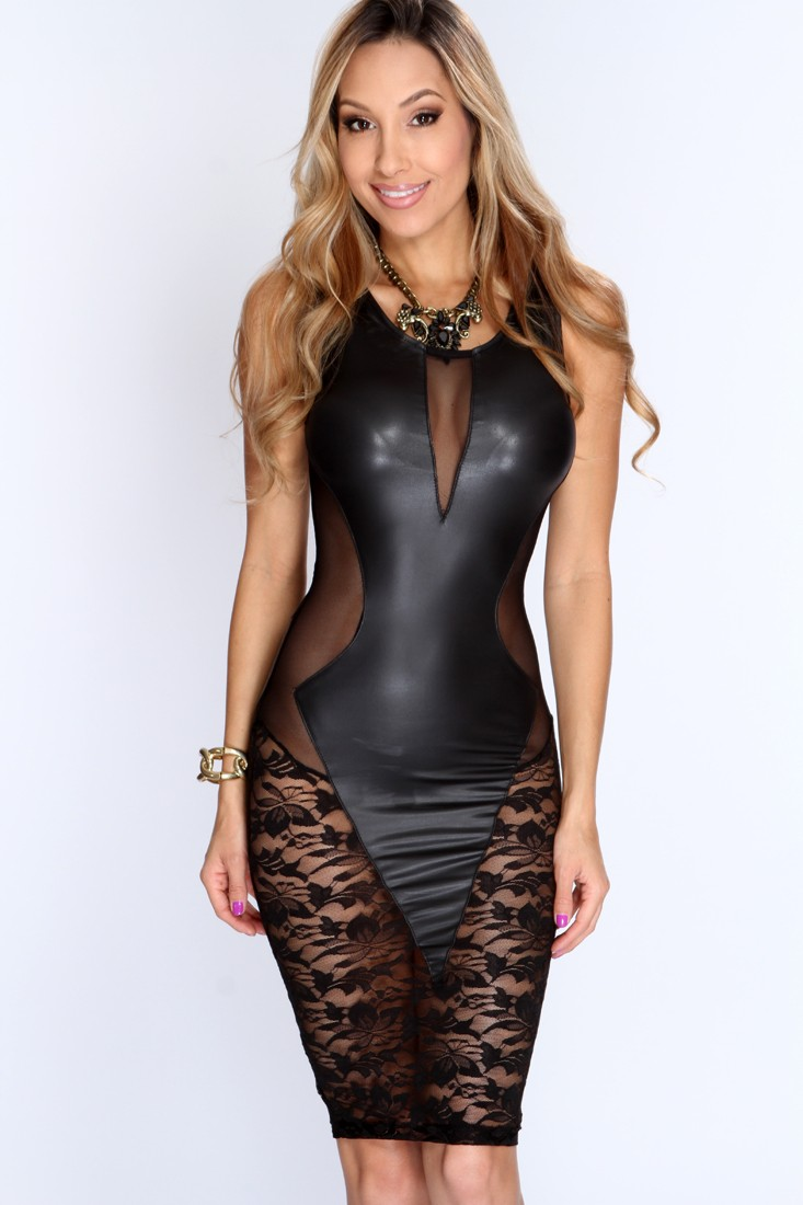 2016 Summer Black Lace See Through Mesh Patchwork Short Party Mini Dress Women Stretch Bodycon Bandage Night Club Dresses E21643(China (Mainland))