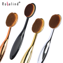 Rosalind New Arrivals Toothbrush Shape Makeup Brush Soft Oval Brush for Foundation Blush Concealer Cosmetic Tool(China (Mainland))