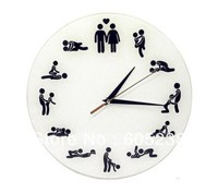 Sex Position Clock / 24Hours Sex Clock / Novelty Wall Clock