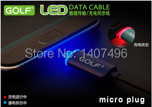 1 Meter Golf LED Light Data Transmission & Micro USB 2.0 Sync Charging Cable - White/Black/Orange / Green / Red Optional Colors(China (Mainland))