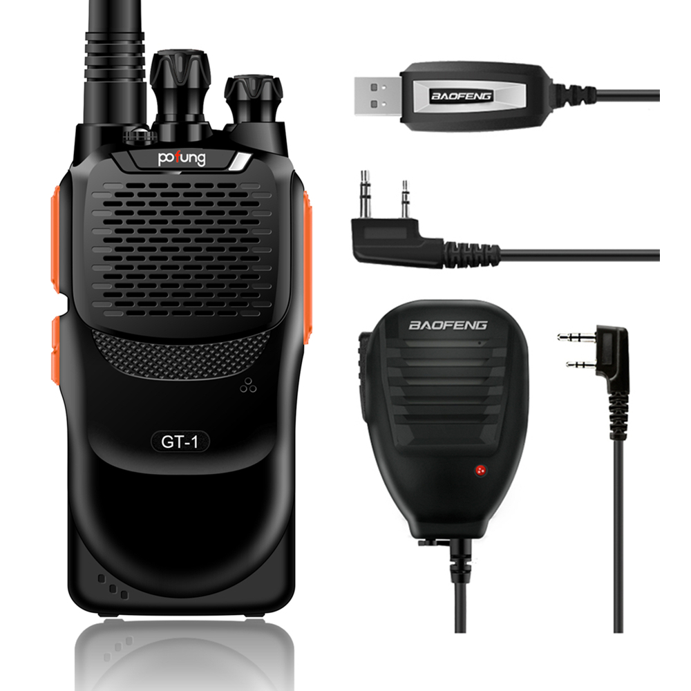 Baofeng GT-1 UHF 2M 400-470MHz FM Two-way Ham Hand-held Radio Transceiver Better Than BF-888s + Programming Cable + Microphone(China (Mainland))
