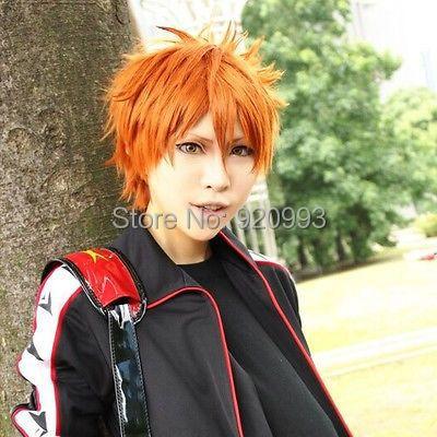 WQ &amp;Wholesale&amp;&gt;&gt;&gt;Eternal Summer- Mikoshiba Momotaro Orange Short Cosplay Wig <br><br>Aliexpress