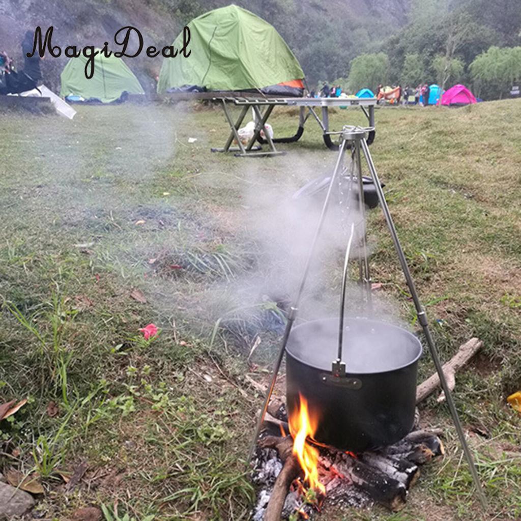Camping Stativ Kochen Grill Lagerfeuer Outdoor Kochtopfhalter Hängende Kette