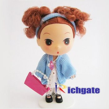 New 12cm Tall Lovely Ddung Figure Dolls Infant Baby Mini Beauty Girls Pretty Cute Gift! Free shipping!