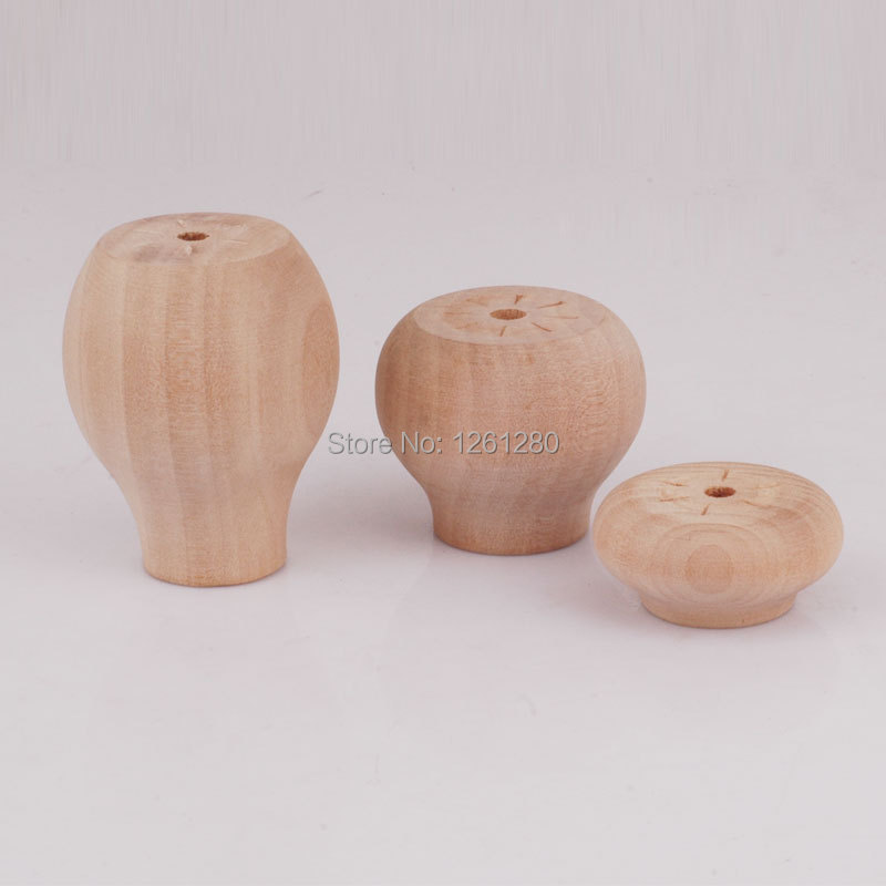 free shipping wooden knob leg Furniture Coffee glass table leg support rods special antiskid furniture hardware fitting(China (Mainland))