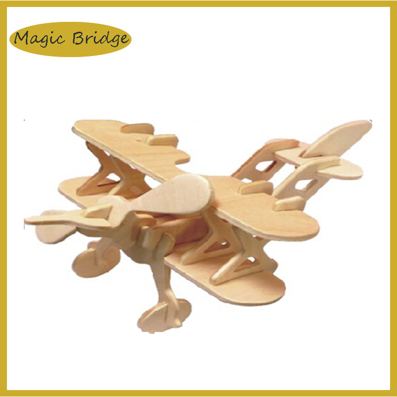 Cool 3D Jigsaw mini plane puzzle Wooden model kids funny educational DIY toys Simulation games free shipping(China (Mainland))