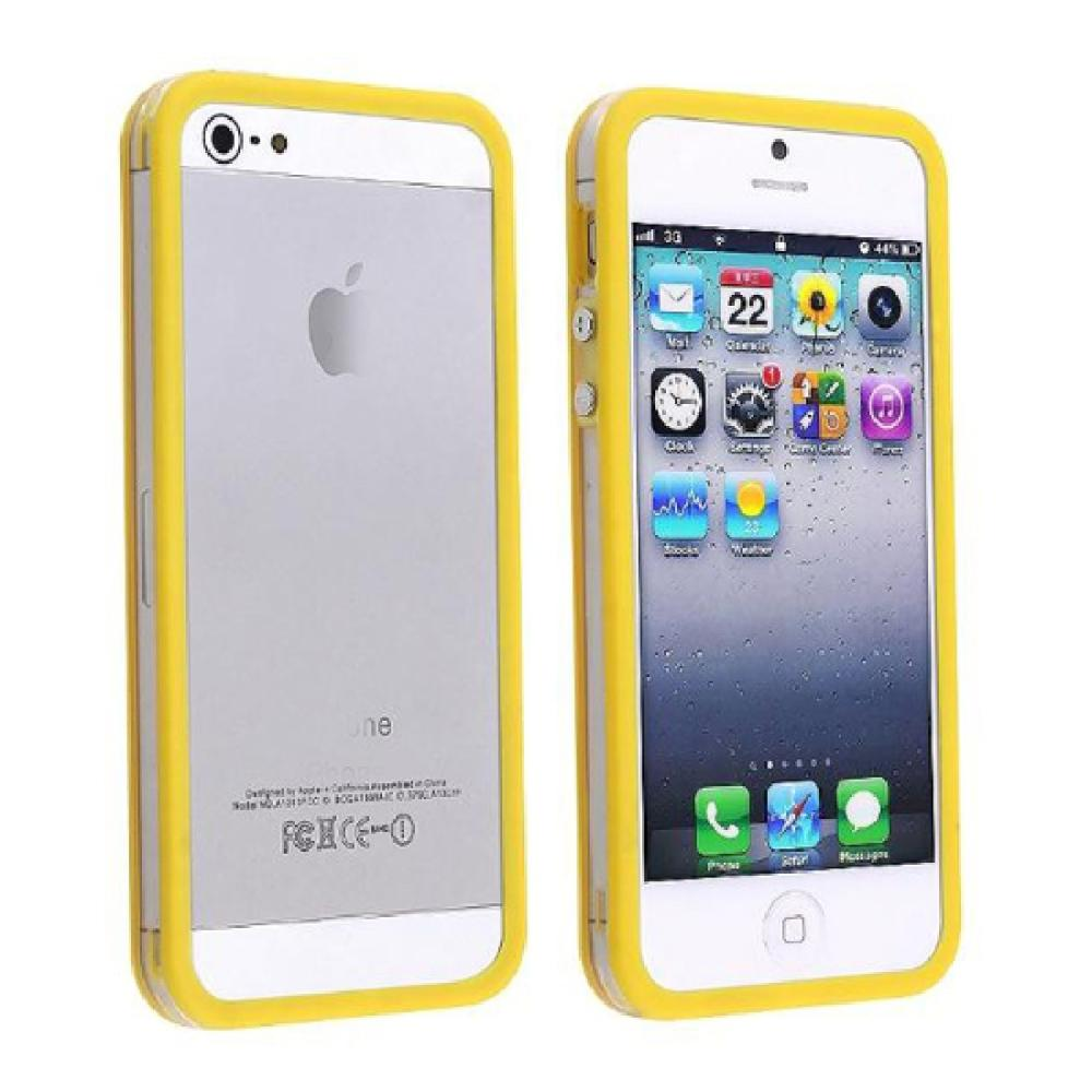Wholesale Color Clear TPU Silicone Bumper Frame Case Metal Buttons for iPhone 5 5S #YSYA1(China (Mainland))