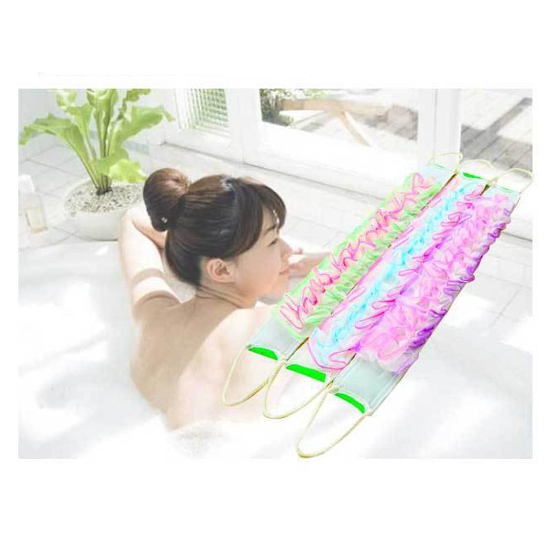 1PC Nylon Towel Wash Long Bath Rubbing Bath Brush Towels Mesh Sponge For Body Bathroom Accessories Back Brush Exfoliating Hot(China (Mainland))
