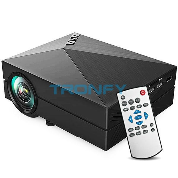 In Stock GM60 Mini Projector LCD 1000LM 1920 x 1080 Resolution AV USB 2.0 HDMI VGA SD Home theater cinema projector proyector(China (Mainland))