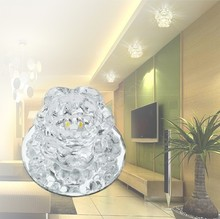Lights Crystal 3W LED Ceiling Modern Ceiling Lamp Lighting For Living Room Aisle Corridor Porch 24(China (Mainland))