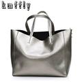 Autumn Gold Tote Big Bag Women Leather Handbags Luxury Shoulder Bags Designer High Quality Sac a
