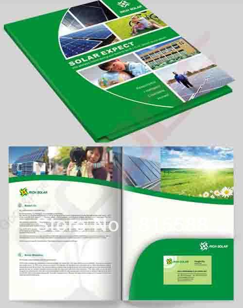 custom paper file folders printing /presentation folders printed(China (Mainland))