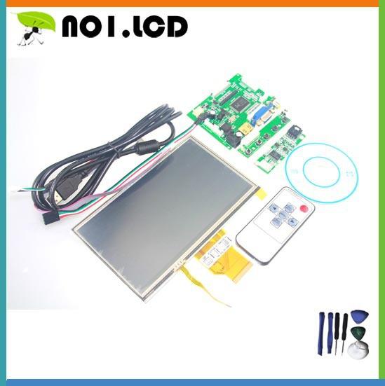 Innolux 3 pouces 5.681.216 mm Raspberry Pi LCD écran tactile TFT AT070TN92 avec entrée VGA tactile Kit HDMI carte de conducteur(China (Mainland))