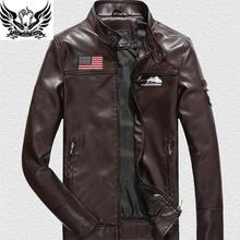2016 New Brand Motorcycle Leather Jackets Men Autumn and Winter Leather Clothing Men Leather Jackets Male  Business casual Coats(China (Mainland))