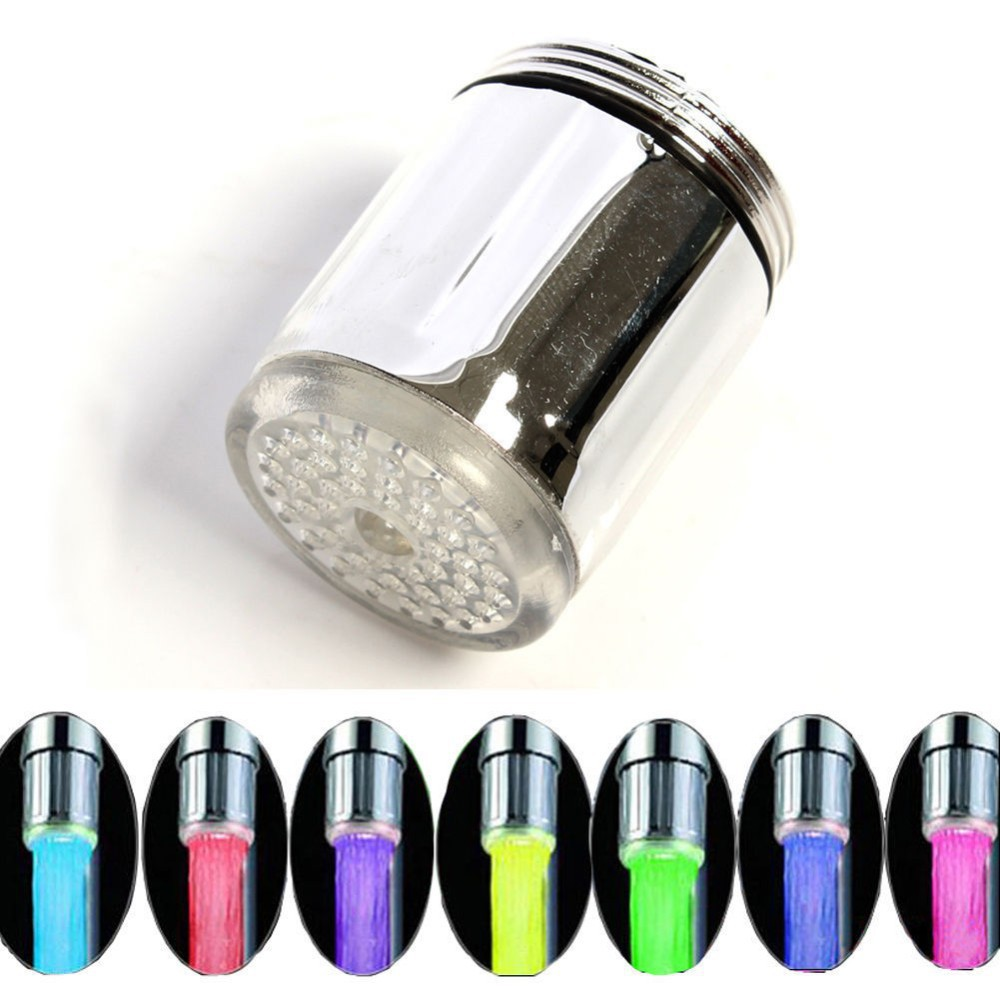 LED Faucet Sensor By Random Light 7 Colors Change Glow Shower Stream Tap Fit For left screw(China (Mainland))